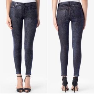 Hudson Nico Super Skinny Mid Rise Snake Skin Jeans